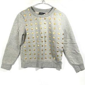 Kate Spade Saturday Polka Dot Sweatshirt XS Gray